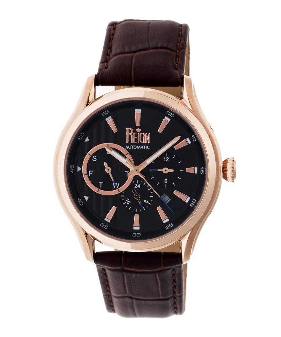 Gustaf dark brown leather watch Sale - reign
