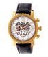 Alpin gold-tone & black leather watch Sale - reign Sale