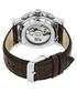 Stavros dark brown leather watch Sale - reign Sale