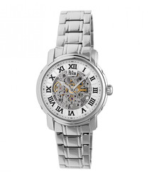 Kahn white & silver-tone steel watch