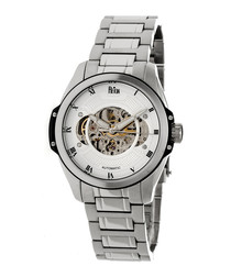 Henley silver-tone steel watch