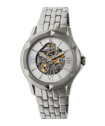 Dantes silver-tone steel watch