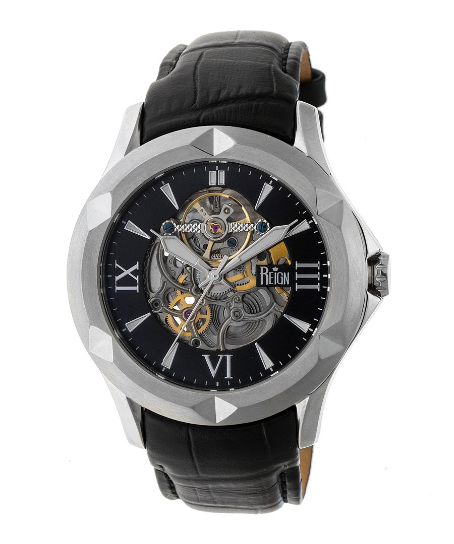 Dantes black leather watch Sale - reign