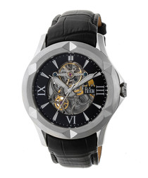 Dantes black leather watch