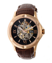 Dantes dark brown leather watch