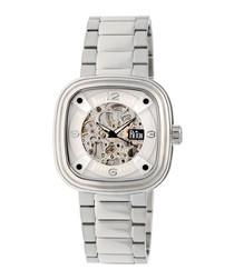 Nero silver-tone steel watch