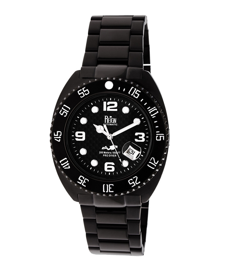 Quentin black steel watch Sale - reign