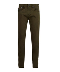 Geno military green cotton blend jeans