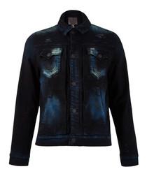 Dylan blue cotton blend button-up jacket