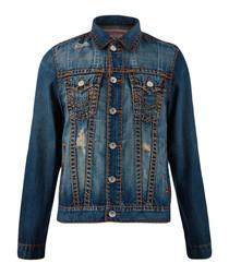 Trucker blue button-up jacket