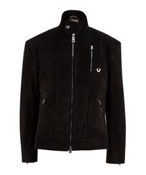 Bonded black long sleeve jacket