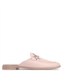 Pink leather slip-on star sandals