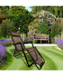 Brown foldable reclining chair Sale - Outdoor Sunny Sale
