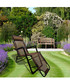 2pc brown foldable reclining chair set Sale - Outdoor Sunny Sale