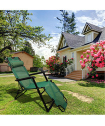 Green foldable reclining chair