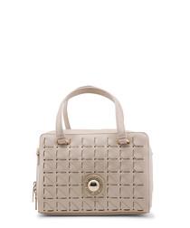 Beige loop box zip-around grab bag