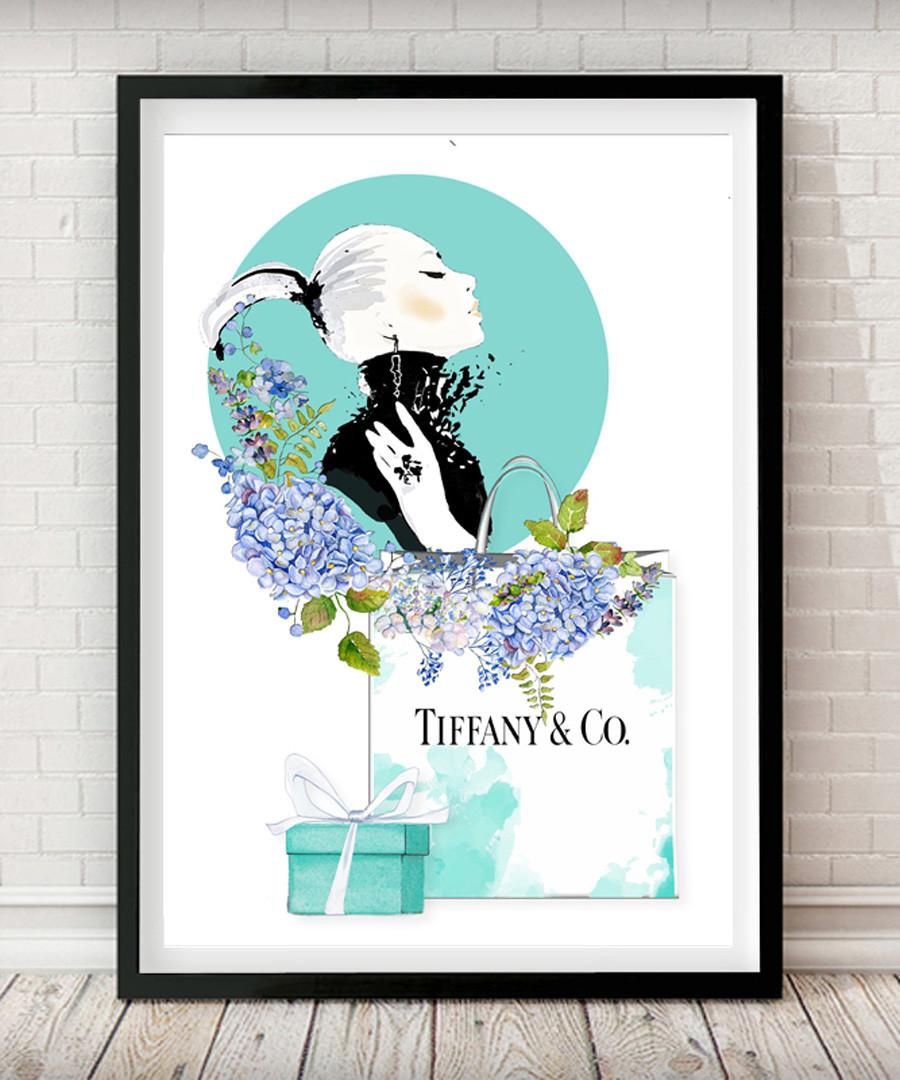 54a66040e5050 Discount Tiffany & Co framed print   SECRETSALES