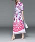 White & pink print shirt midi dress Sale - Ferraga Sale