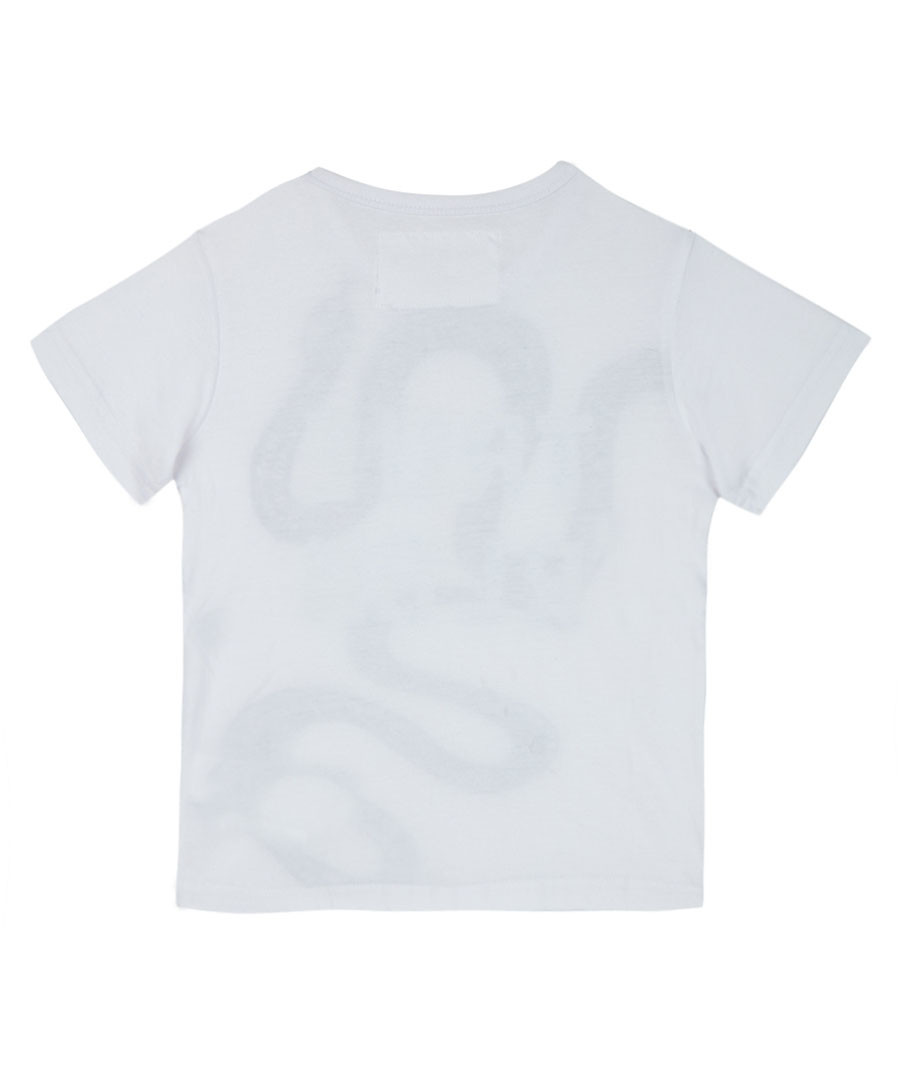 Boy's Tangled white cotton snake T-shirt Sale - true religion