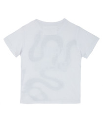 Boy's Tangled white cotton snake T-shirt