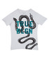 Boy's Tangled white cotton snake T-shirt Sale - true religion Sale