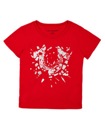 Boy's Shattered red pure cotton T-shirt