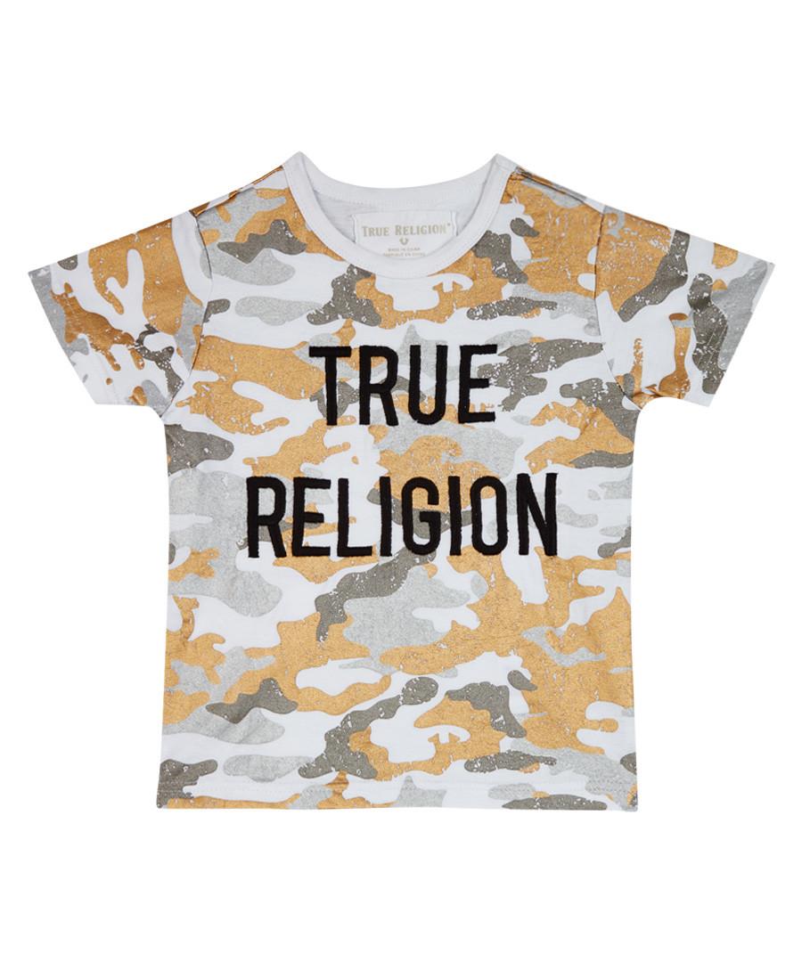 Boy's White cotton camouflage T-shirt Sale - TRUE RELIGION