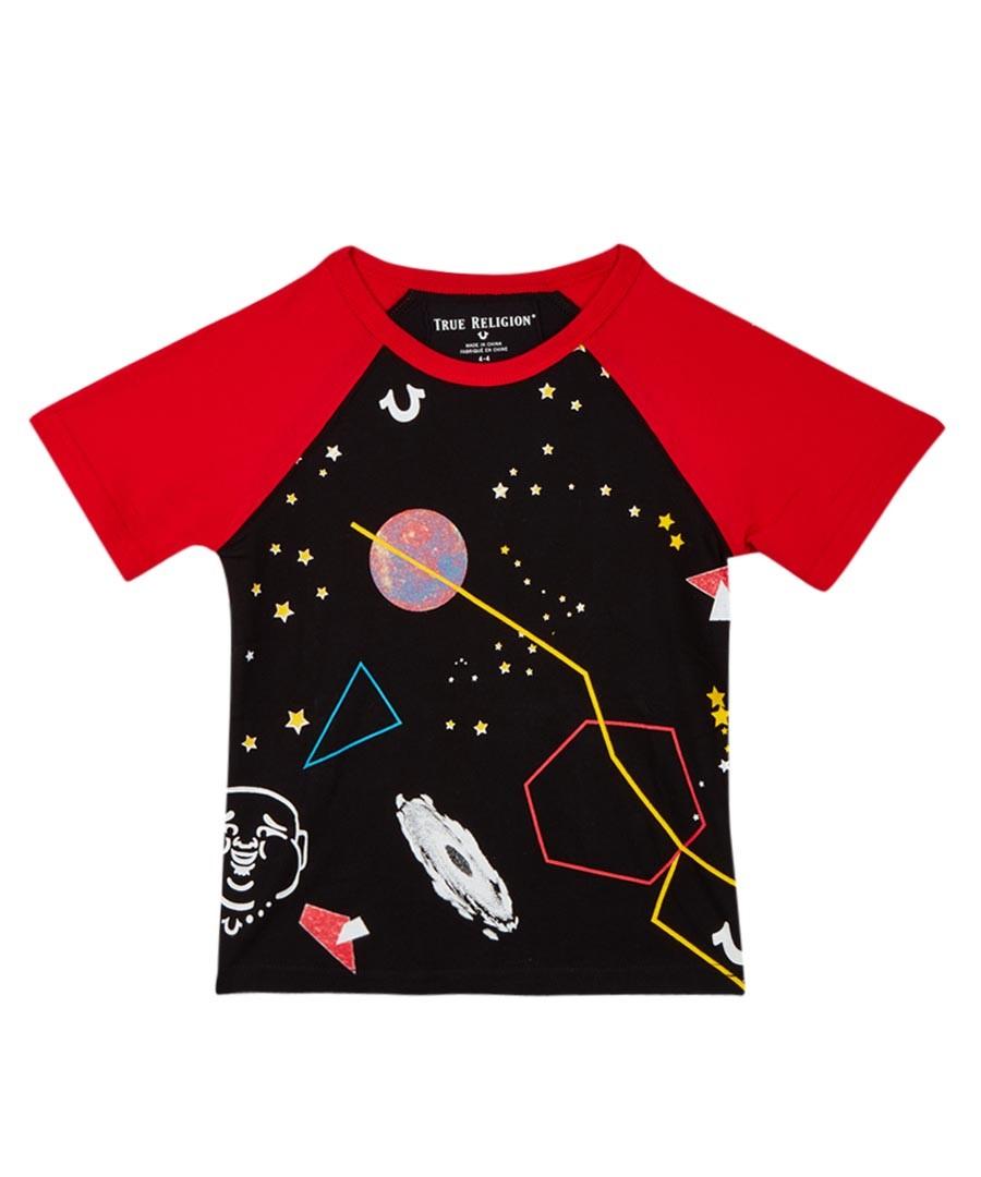 Boy's Black cotton space T-shirt Sale - true religion