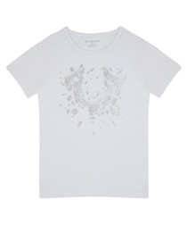 Boy's Shattered white pure cotton T-shirt