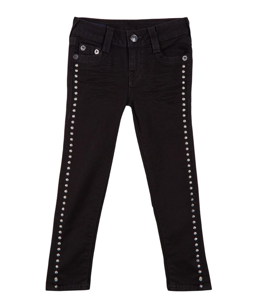 Girl's Casey black cotton blend jeans Sale - TRUE RELIGION