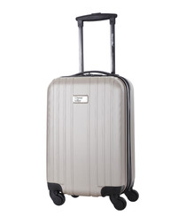 Beige spinner suitcase 45cm