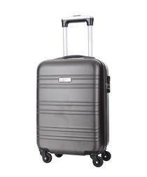 Grey spinner suitcase 46cm