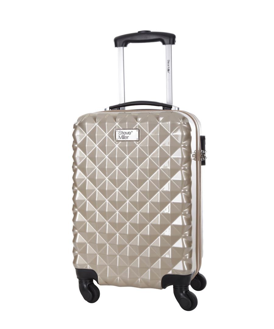 Beige spinner suitcase 46cm Sale - steve miller