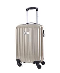 Beige spinner suitcase 46cm