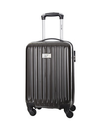 Dark grey spinner suitcase 46cm
