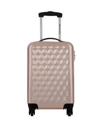 Beige spinner suitcase 56cm
