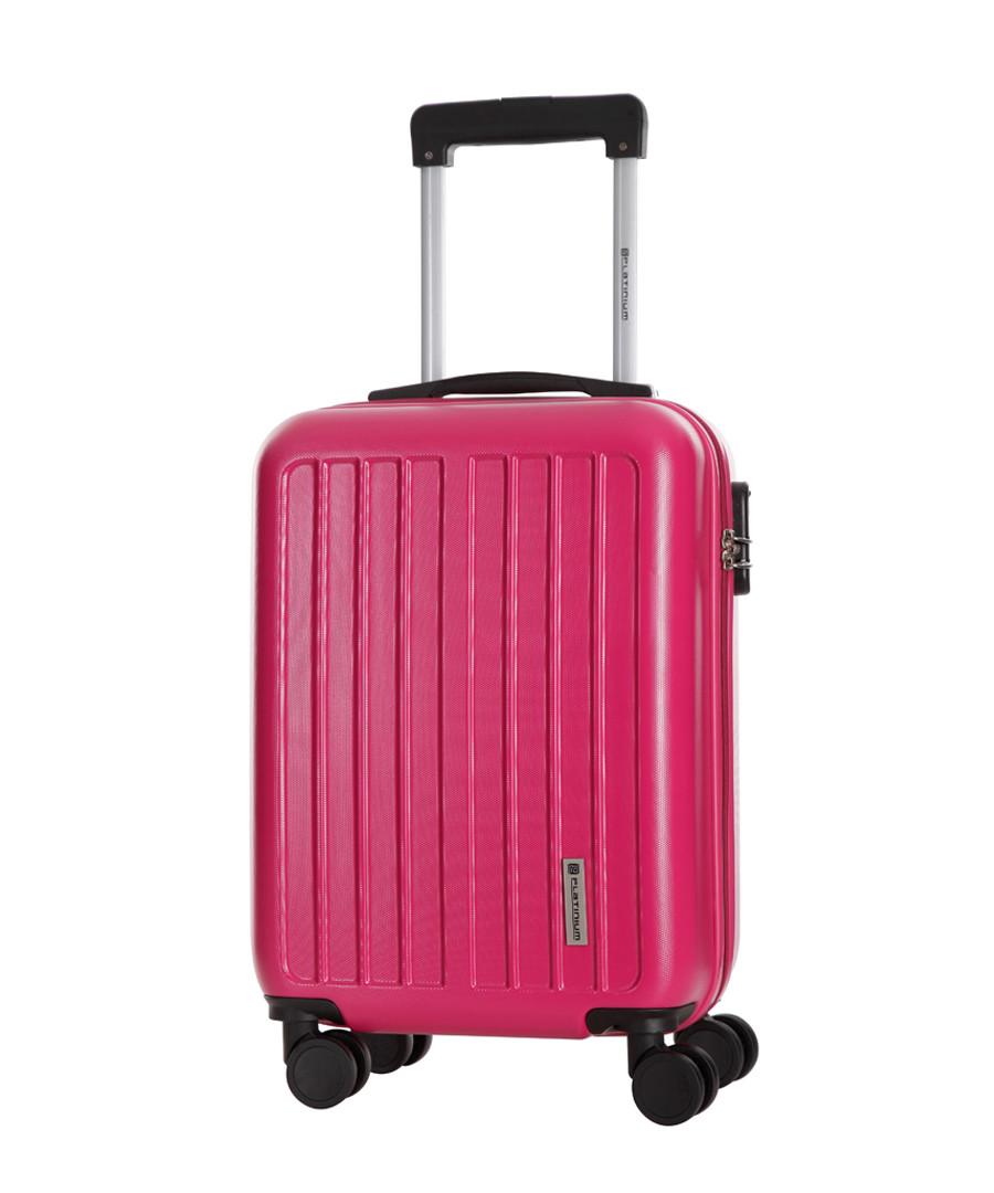 Fuchsia spinner suitcase 46cm Sale - platinium