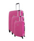 3pc Fuchsia spinner suitcase set Sale - platinium Sale