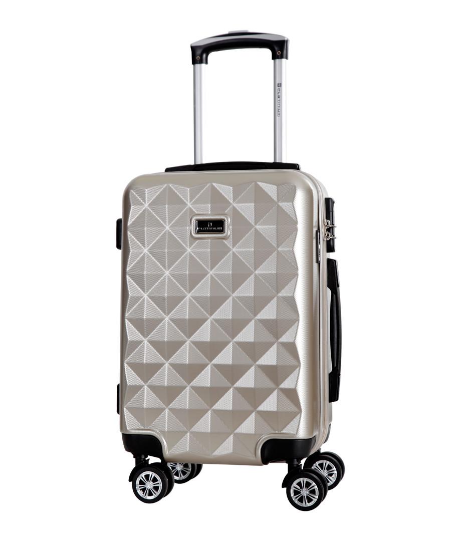 Beige spinner suitcase 60cm Sale - platinium