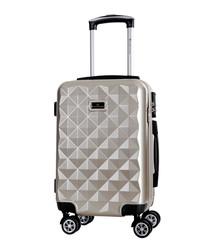 Beige spinner suitcase 60cm