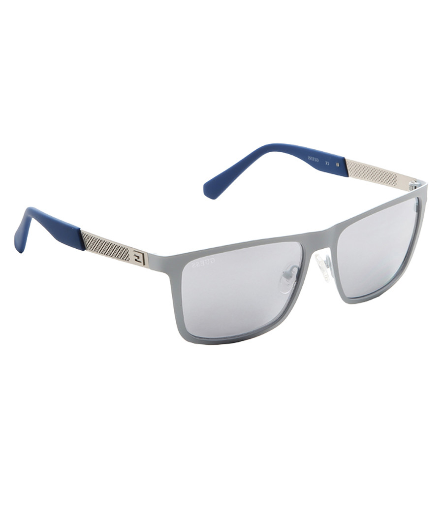 Silver-tone frame flat top sunglasses Sale - guess