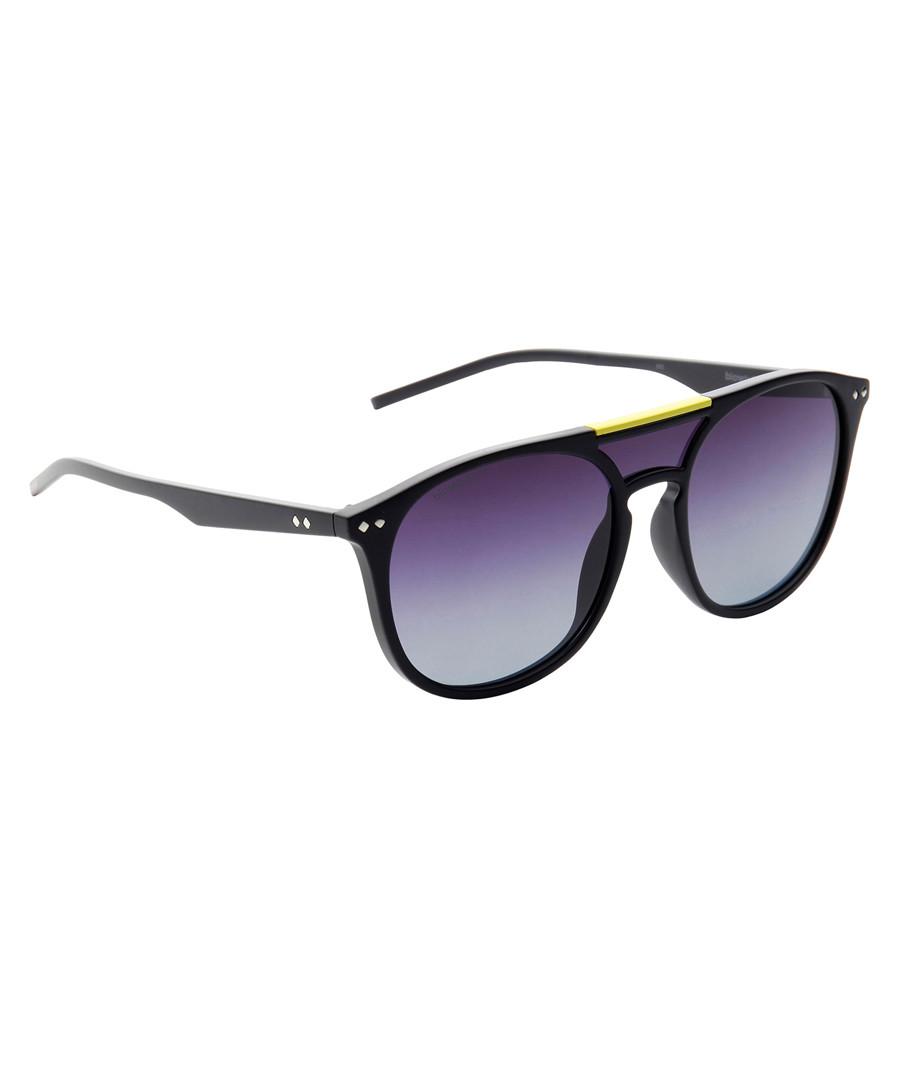 Black frame & purple lens sunglasses Sale - polaroid