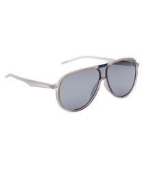 Blue lens & clear frame sunglasses