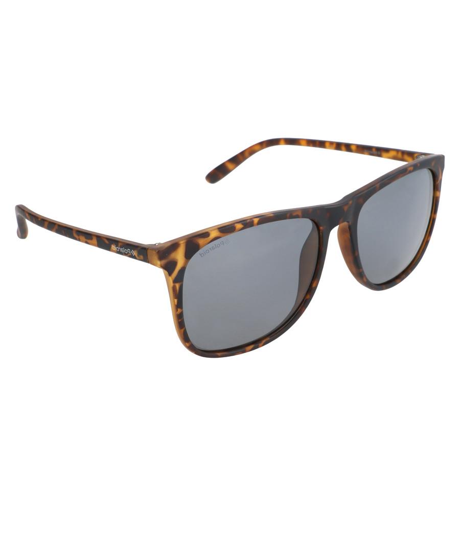 Dark tortoiseshell flat top sunglasses Sale - polaroid