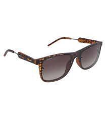 Dark tortoiseshell oversize sunglasses