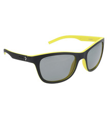 Black & yellow thick frame sunglasses