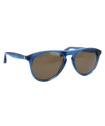 Blue rounded frame sunglasses