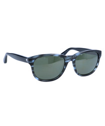 Blue streaked frame sunglasses
