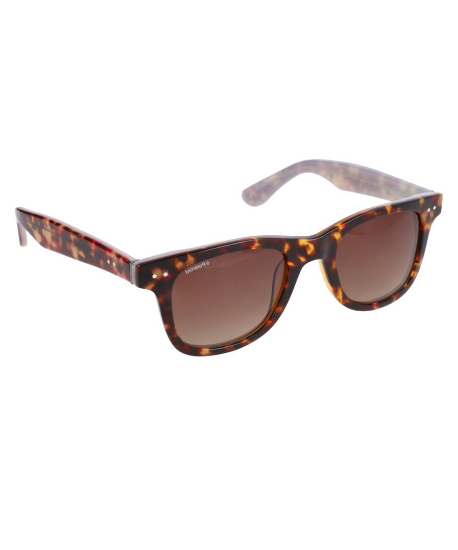 Dark tortoiseshell wayfarer sunglasses Sale - polaroid