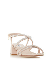 Masiey blue leather strappy sandals